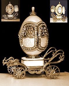 wedding carriage musical box egg