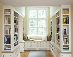 Reading nooks.. Ok...spare room as a walk in closet or spare room for a reading room...hmm? Tough choice..