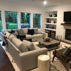 Metro Sectional - Modern Sectionals - Modern Living Room Furniture - Room & Board - Home decor interests Boho Living Room, Living Room Carpet, Home And Living, Small Living, Large Living Rooms, How To Decorate Living Room, Dining Rooms, Cornforth White Living Room, U Couch