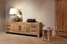 t.v meubels Rustiek t.v dressoir - FARMER Country Lifestyle, Got Wood, Country Living, Sideboard, Entryway Bench, Dining Room, Cabinet, Storage, Furniture