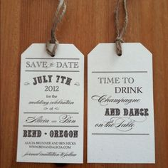 Our Save the Date Luggage Tags