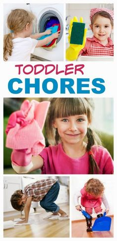 A FANTASTIC list of age-appropriate chores for toddlers, preschoolers, and younger school age children.