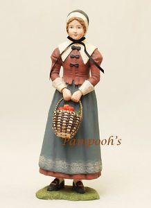 Bethany Lowe Pilgrams | Bethany Lowe Pilgrim Woman with Basket Thanksgiving Figurine | eBay