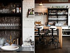 RESTAURANT | Sitka&Spruce in Seattle by Unknown Designer | Brick Walls | Industrial Look | Old&New | Black&White