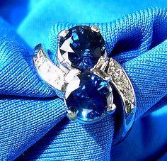 Deco Old European Cut Diamond Sapphire Engagement Ring Antique Vintage Solitaire