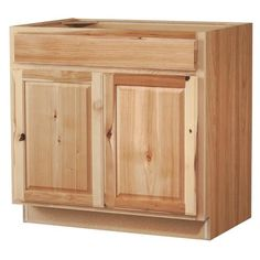 Diamond NOW Denver W x H x D Natural Sink Base Stock Cabinet at Lowe's. Diamond Now's Rustic Hickory Denver collection features bold grain patterns and knots that adds a rustic appearance to your home. Stock Kitchen Cabinets, Kitchen Sink, Kitchen Corner, Kitchen Decor, Hickory Kitchen Cabinets, Kitchen Design, Rustic Kitchen, Kitchen Interior, Types Of Cabinets