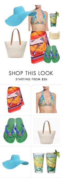 """""""Flag Inspiration - India"""" by ticklytiger ❤ liked on Polyvore featuring Emilio Pucci, Trina Turk, Tory Burch, Chico's and Charlotte Russe"""