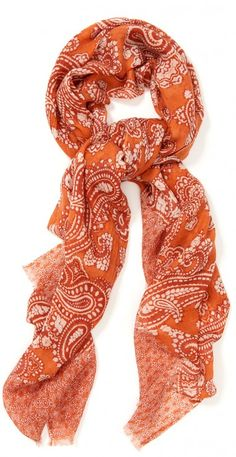 Caren Wool Scarf in Bead Paisley by J.McLaughlin