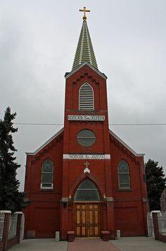 Saint Joseph's Polish Roman Catholic Church in the Globeville Neighborhood of Denver, Colorado