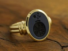CUSTOM OVAL SIGNET RING, STONE 12x10 MM  Custom Oval Signet Ring with hand engraved Semi Precious Gem Stone, size 12x10mm. The stone can be Mens Ring Designs, Gold Ring Designs, Roman Jewelry, Men's Jewelry Rings, Gold Coin Ring, Stone Ring Design, Marriage Jewellery, Custom Signet Ring, Gents Ring