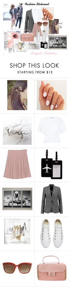 """Airport Fashion #7"" by fashionologysz ❤ liked on Polyvore featuring Godinger, T By Alexander Wang, American Vintage, TravelSmith, Theory, iCanvas, Converse, Leonard and Chanel"
