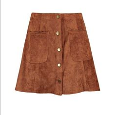 Boohoo Suedette Button Thru Mini Skirt Brand new with tags! Size: UK8 US4 EUR36 Boohoo Skirts Mini