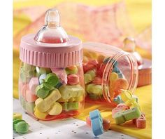 Pink Fillable Bottles Baby Shower Favor 6ct - Party City
