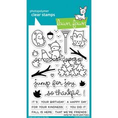 Scrapbookdepot - Lawn Fawn Clear Stamps 4x6inch - Jump For Joy - LF1212 - Lawn…