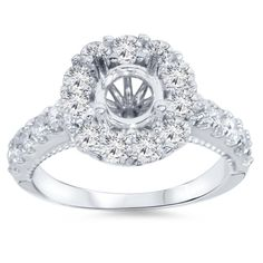 Hey, I found this really awesome Etsy listing at https://www.etsy.com/listing/197280371/100-cttw-diamond-halo-engagement-ring