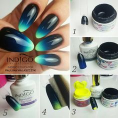 Ombre according to Indigo Educator Pauliny Walszczyk #ombre #ombrenails #nail #nails #indigo #indigonails #sexynails