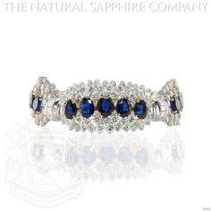 Blue Sapphire Bracelet J3342   eBay
