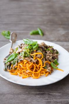 Looking for a healthy gluten free recipe? Check out our creamy garlic mushroom & lentil ragu with sweet potato noodles. We've swapped the classic gluten based noodles for sweet potato, providing you with a delicious gluten free alternative, packed full of goodness!