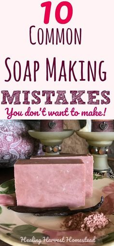 Soap Making Mistakes and Frequently Asked Questions: Making your own handmade soap is FUN! But it's easy to make mistakes when you first start out. Soap making errors can range from just wasting product to being down right dangerous. Find out the most common soap making mistakes so you don't make them and common questions new soap makers ask. #soapmaking