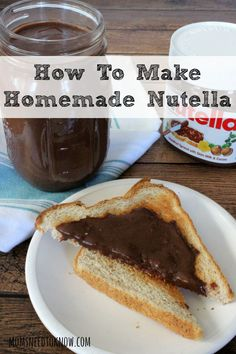 I started making my own homemade nutella a few years ago and it is so easy to make and much cheaper then buying it in the store!