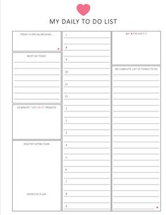 daily to do list / HOURLY format / 8.5 x 11 by lizzieloucreations, $3.50