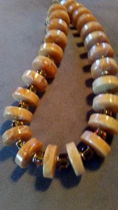 One of a Kind soft golden geometric necklace #1445 by LoisWagnerOriginals on Etsy