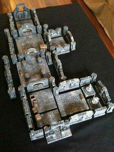 ) - Page 2 - Hirst Arts Dungeons And Dragons Miniatures, D&d Dungeons And Dragons, Fantasy Rpg, Fantasy Images, Hirst Arts, Dungeon Tiles, Warhammer Terrain, Board Game Design, Game Terrain