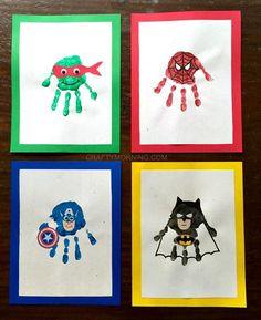 Amazing Superhero Handprint Crafts for Kids