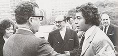 Carlos Caszely y Salvador Allende. Años más tarde el futbolista plantó a Augusto PInochet en plena dictadura chilena.