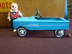 """Vintage Murray """"Pacer"""" Pedal Car with Ford Falcon Style Grill All Original N R"""