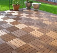 Simple to Installation deck tiles with low cost. from China manufacturer - Ningbo ECO Wood Plastic Manufacture Co. Deck Pvc, Diy Deck, Outside Flooring, Deck Flooring, Parquet Flooring, Ipe Decking, Composite Decking, Composite Board, Decking Ideas