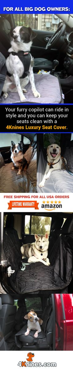 4Knines Luxury Seat Covers will keep your seats clean from fur, dirt, and claw marks when traveling with your furry copilots.  http://4knines.com/pages/4knines-luxury-covers-for-dogs