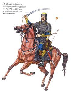 Kazakh warrior in chain mail, 17th century