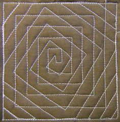 Spiral Illusion - The texture of this free motion quilting design is really amazing, so make sure to place it where you want lots of attention. Learn to stitch it at http://freemotionquilting.blogspot.com/2010/07/day-204-spiral-illusion.html