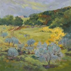La Casacce Orchard plein air oil painting by Sharon Lynn Williams, painting by artist Sharon Lynn Williams