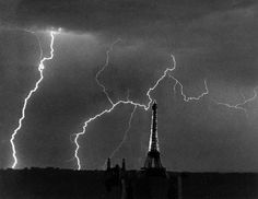 Eiffel Tower, Summer Storm, 1927, Andre Kertesz, surrealism in Paris, post-WWI, France