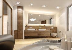 Koupelna se solitérní vanou | AŤÁK DESIGN Walk In, Bathroom Lighting, Studios, Bathtub, Mirror, Design, Furniture, Home Decor, Bathroom Light Fittings