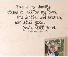 Ode for all types of families! Lilo and Stitch Wall Decal Quote #family #movie #quote #disney