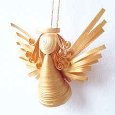 Paper quilled 3D angel by ElinaQuills