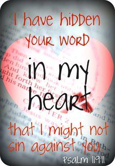 Psalm 119:11 #Bible #verses