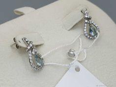 Materials: topaz, cubic zirconia, silver Size: Length 19mm ##handmade Cubic Zirconia Earrings, Topaz Earrings, Silver Earrings, Handmade, Free, Products, Hand Made, Gadget, Handarbeit