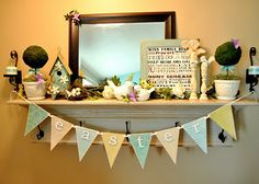 Such a cute idea -- make a Magnetic Bunting @ Sassy Sanctuary