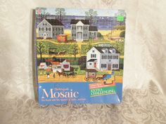 MB Charles Wysocki Mosaic Gull's Cape Cod  Nest Challenging Puzzle 1985 Complete #MiltonBradley