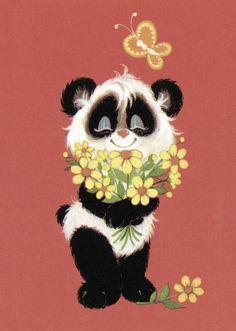 Fine Art Print-Panda with Fine Art Print on Paper made in the UK Framed Art, Framed Prints, Canvas Prints, Panda Art, Kawaii, Fauna, Red Background, Poster Size Prints, Unique Art