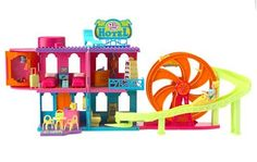 Amazon.com : Polly Pocket! Relaxin' Resort Rock 'n Roller Coaster Hotel : Toys And Games : Toys & Games