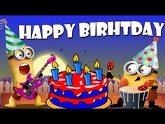 Happy Birthday with Minions Minions Happy Birthday Song, Happy Birthday Funny Dog, Minions Singing, Happy Birthday Clip Art, Happy Minions, Wish You Happy Birthday, Birthday Cartoon, Happy Birthday Pictures, Party