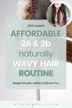 An easy four step hair routine for wavy hair. This routine works well for 2a and 2b wavy hair, but can be easily modified for 2c and curly hair! Only 4 steps, easy and affordable budget friendly hair routine. This 2020 hair routine is a must read for wavies! Wavy Hair 2b, Wavy Hair Tips, 2a Hair, Wavy Hair Care, Curly Hair Routine, Natural Wavy Hair, Short Wavy Hair, Hair Care Routine, Curly Hair Styles
