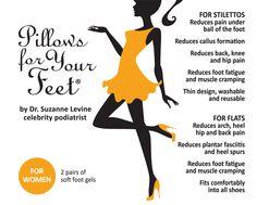 Pillows for Your Feet® For Women - For Stilettos/High Heels & Flats!