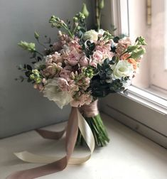 Blush and green floral wedding bouquet Wedding Table Flowers, Bridal Flowers, Flower Bouquet Wedding, Wedding Decorations, Pink Flowers, Boquette Wedding, Floral Wedding, Trendy Wedding, Bride Bouquets