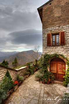 Stormy Day in Assisi, province of Perugia , Umbria region Italy
